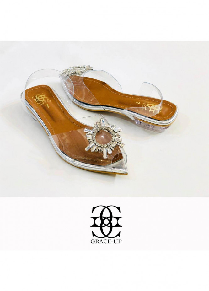 Grace Up Shoes Casual Style  Flat  713 SILVER
