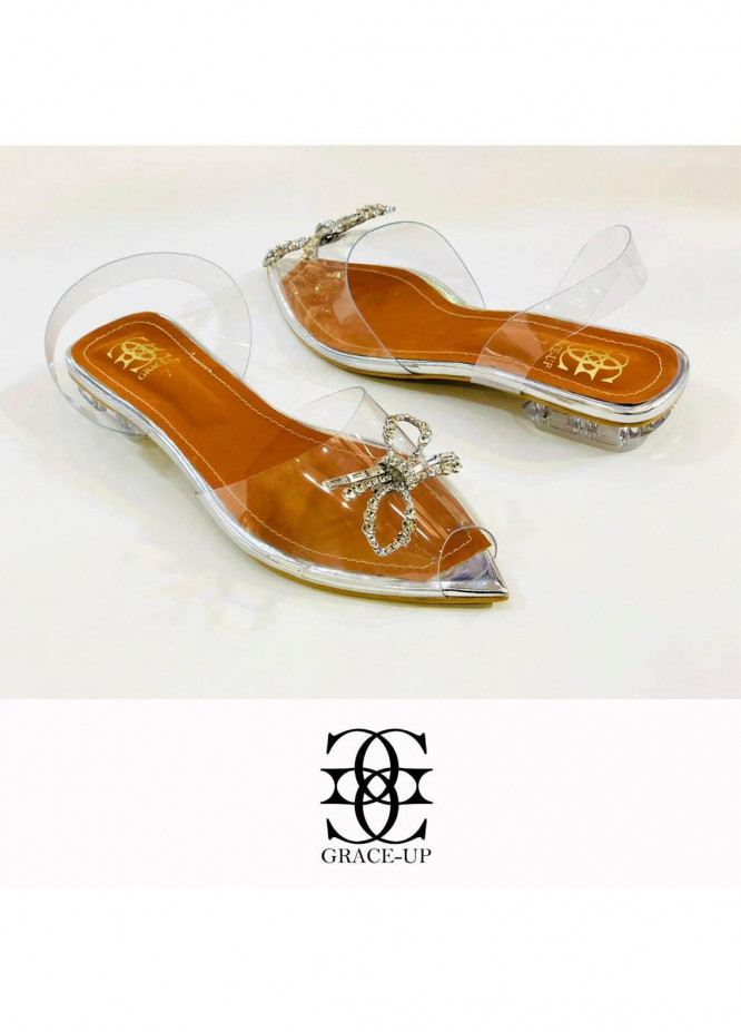Grace Up Shoes Casual Style  Flat  714 SILVER