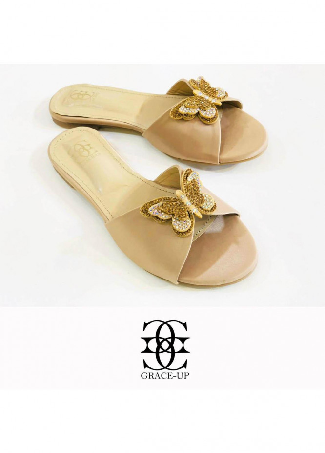 Grace Up Shoes Casual Style  Flat  718 FAWN