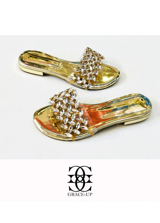 Grace Up Shoes Casual Style  Flat  719 GOLDEN
