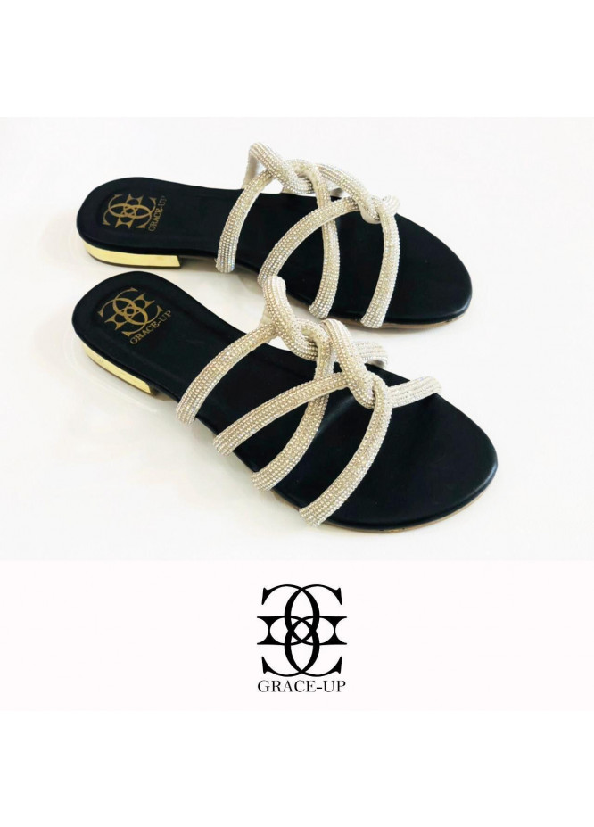 Grace Up Shoes Casual Style  Flat  723 BLACK