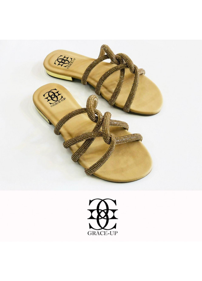 Grace Up Shoes Casual Style  Flat  723 FAWN