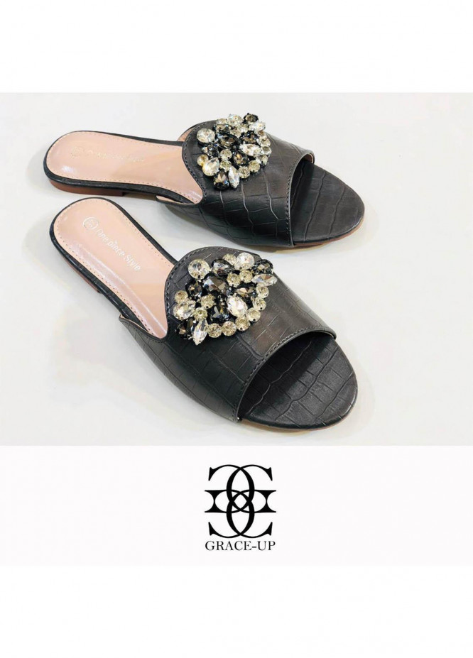 Grace Up Shoes Casual Style  Flat  A293 GREY