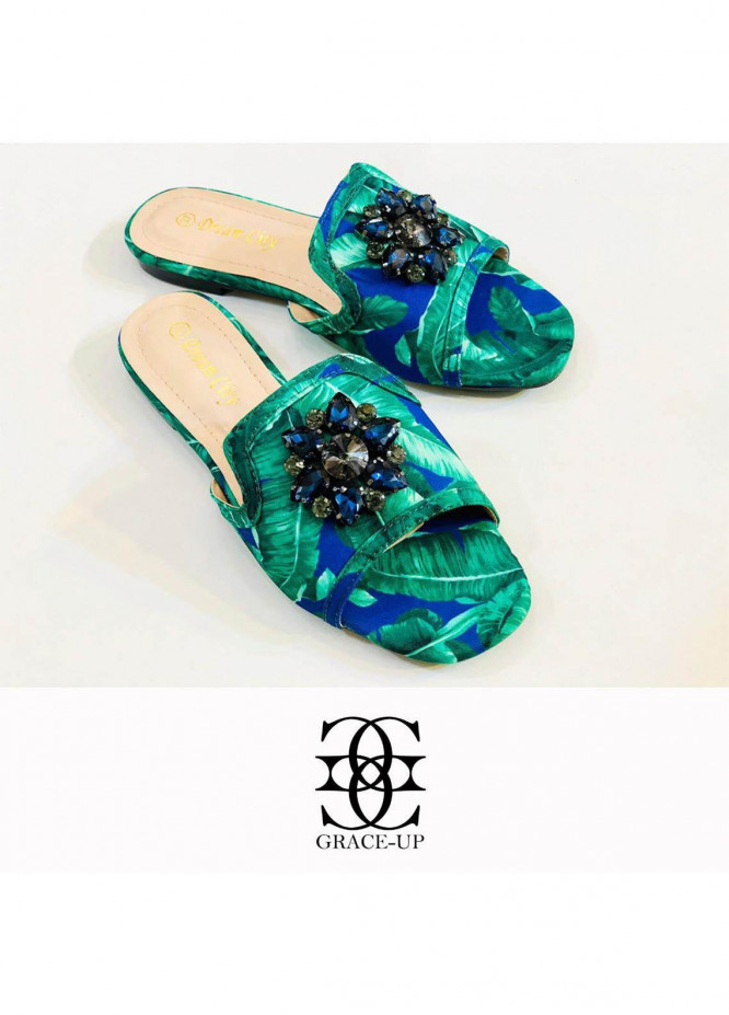 Grace Up Shoes Casual Style  Flat  A298 BLUE