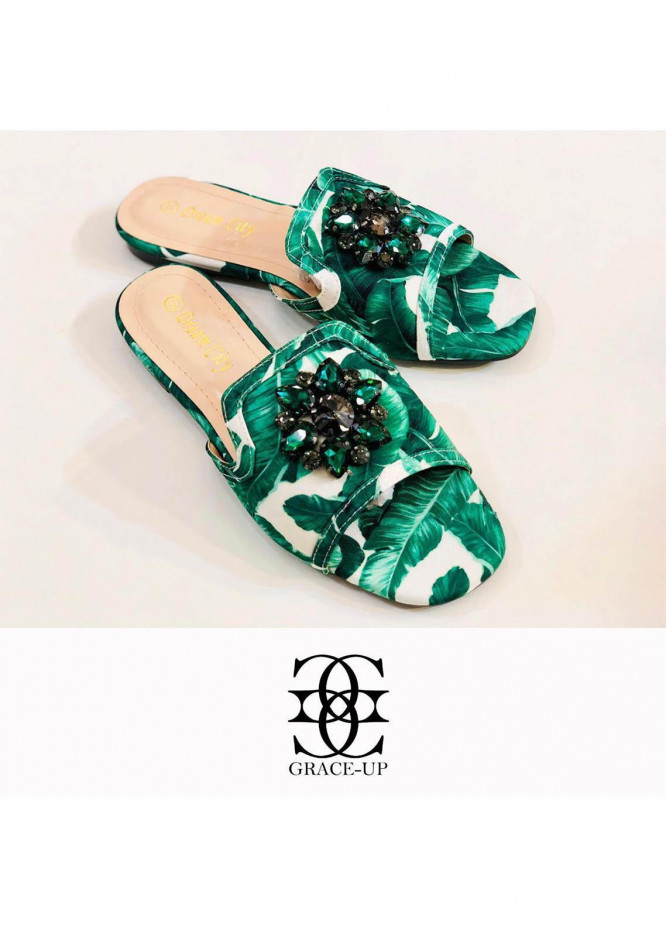 Grace Up Shoes Casual Style  Flat  A298 GREEN