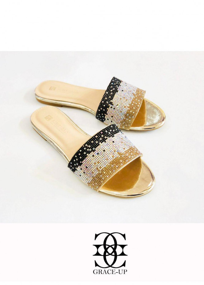 Grace Up Shoes Casual Style Flat A319 GOLDEN