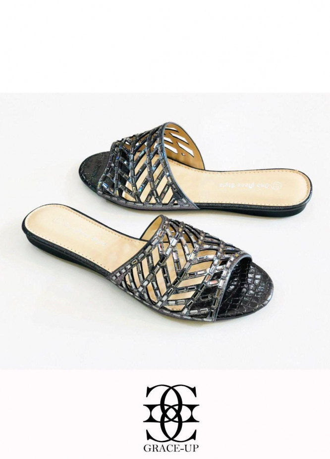Grace Up Shoes Casual Style  Flat  A322 GRAY