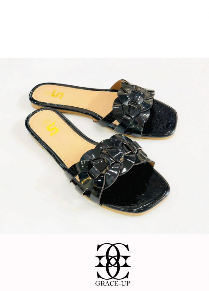Grace Up Shoes Casual Style  Flat  A331 BLACK