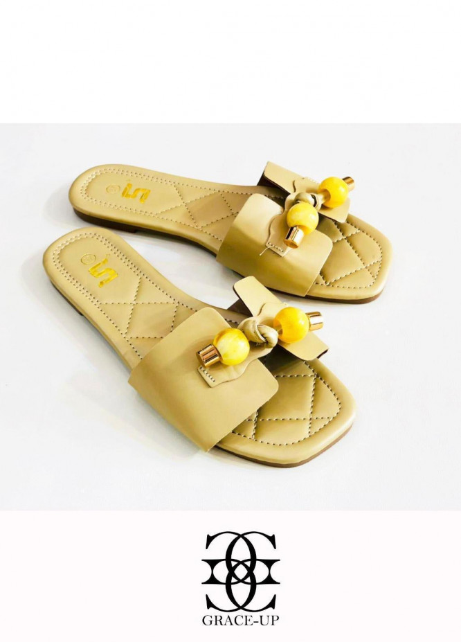 Grace Up Shoes Casual Style  Flat  A332 GOLDEN