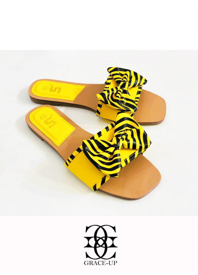 Grace Up Shoes Casual Style  Flat  A342 YELLOW