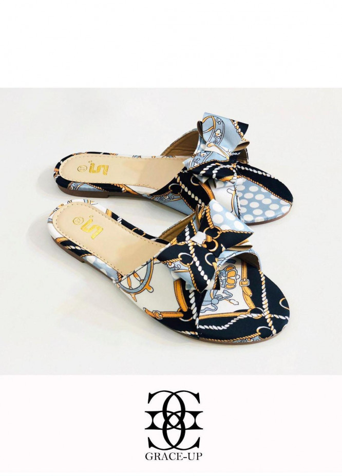 Grace Up Shoes Casual Style  Flat  A343 BLACK