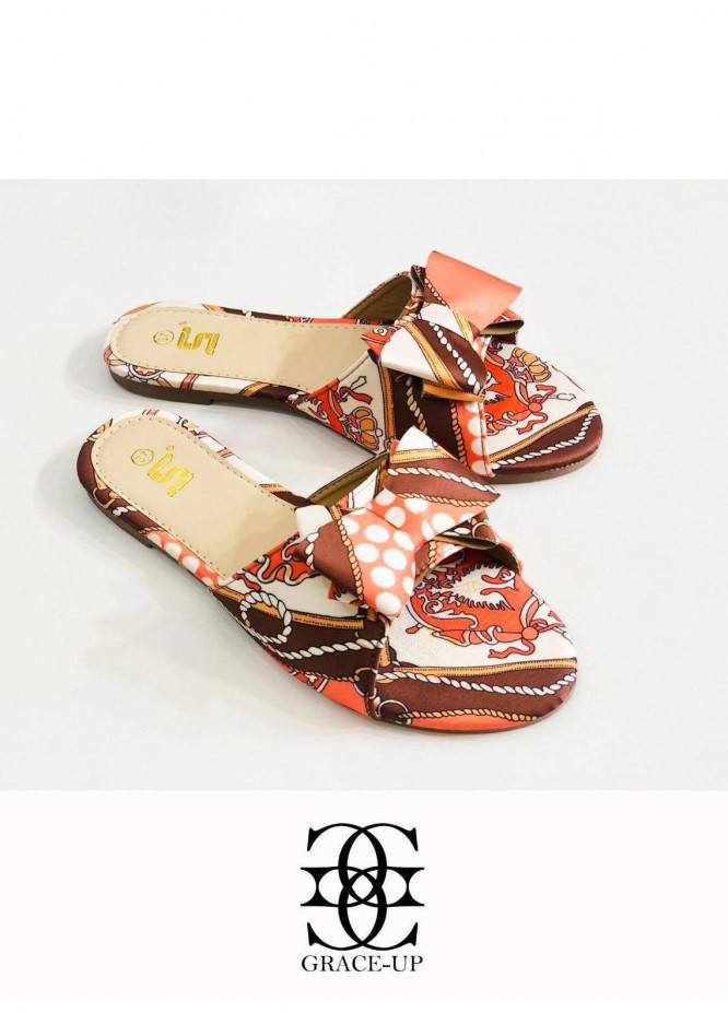 Grace Up Shoes Casual Style  Flat  A343 BROWN