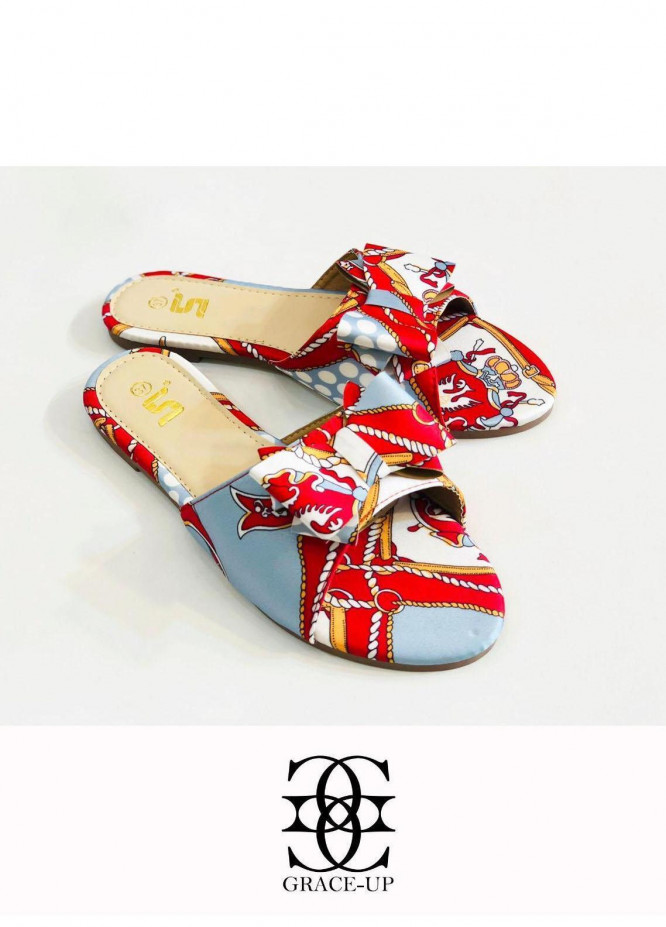 Grace Up Shoes Casual Style  Flat  A343 RED