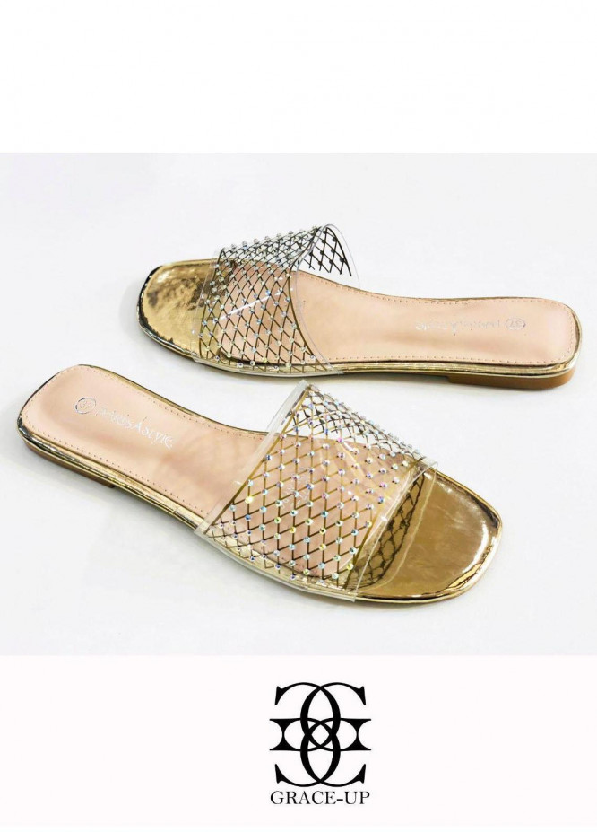 Grace Up Shoes Casual Style  Flat  A344 GOLDEN