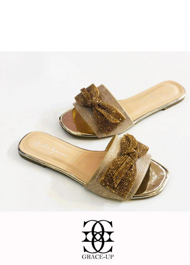Grace Up Shoes Casual Style  Flat  A346 GOLDEN