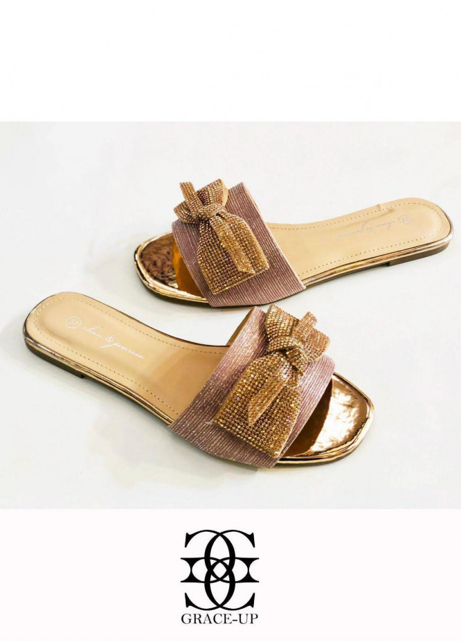 Grace Up Shoes Casual Style  Flat  A346 PEACH