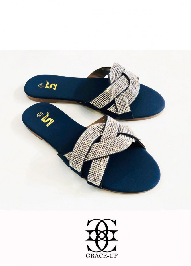Grace Up Shoes Casual Style  Flat  A349 BLUE