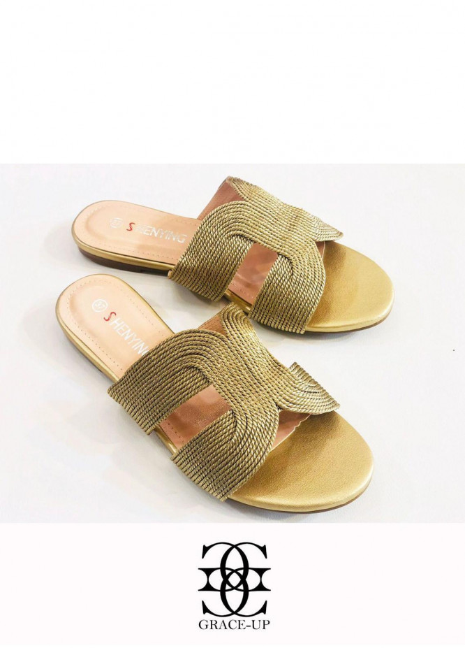 Grace Up Shoes Casual Style  Flats  A388 GOLDEN