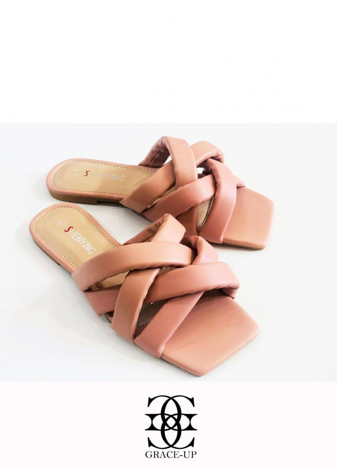 Grace Up Shoes Casual Style  Flats  A390 PINK