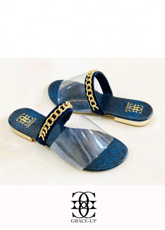 Grace Up Shoes Casual Style  Flat  O603 BLUE