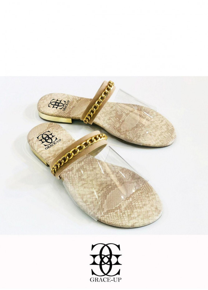 Grace Up Shoes Casual Style  Flat  O603 FAWN