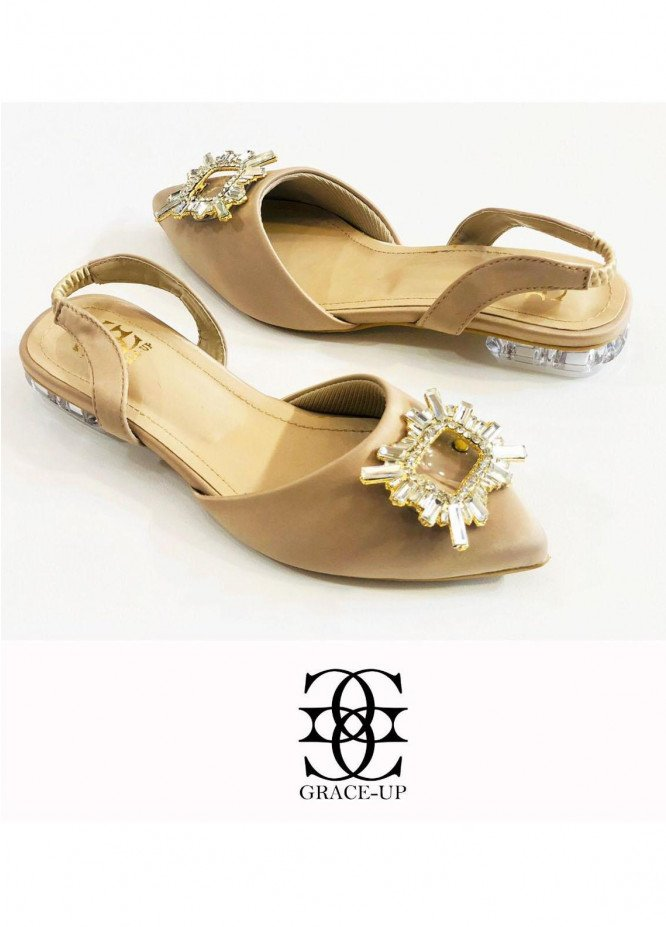 Grace Up Shoes Casual Style  Flat  O640 FAWN