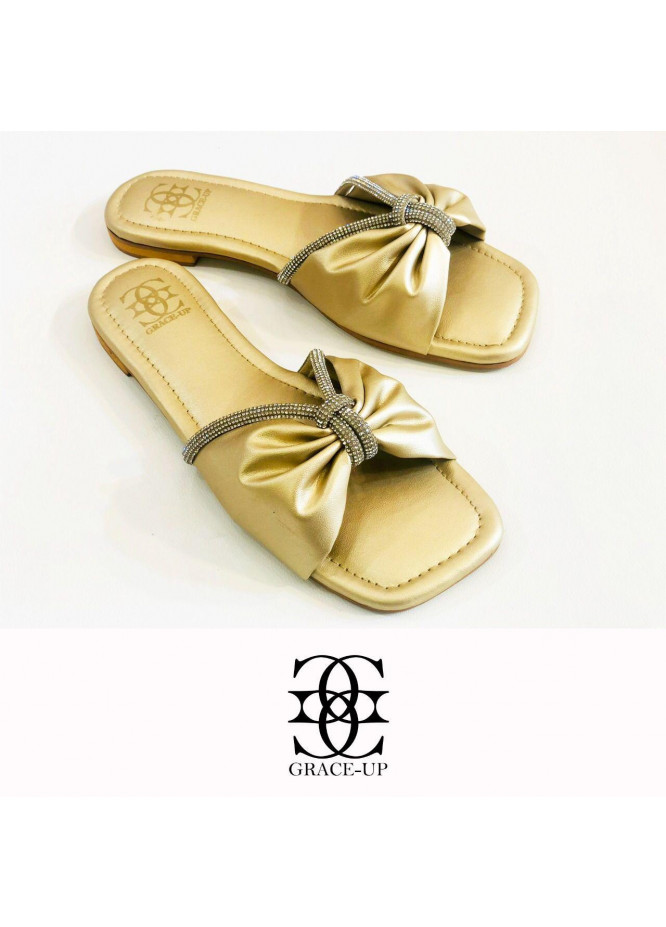 Grace Up Shoes Casual Style  Flat  O643 GOLDEN