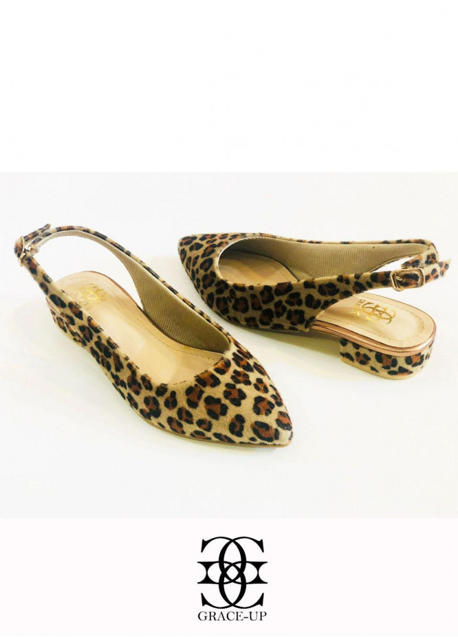 Grace Up Shoes Casual Style  Flat  O644 BROWN