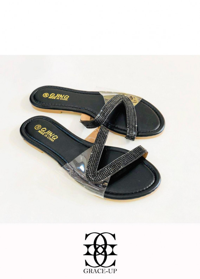 Grace Up Shoes Casual Style  Flat  W81 BLACK