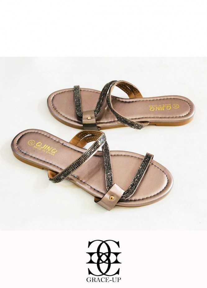 Grace Up Shoes Casual Style  Flat  W82 GRAY