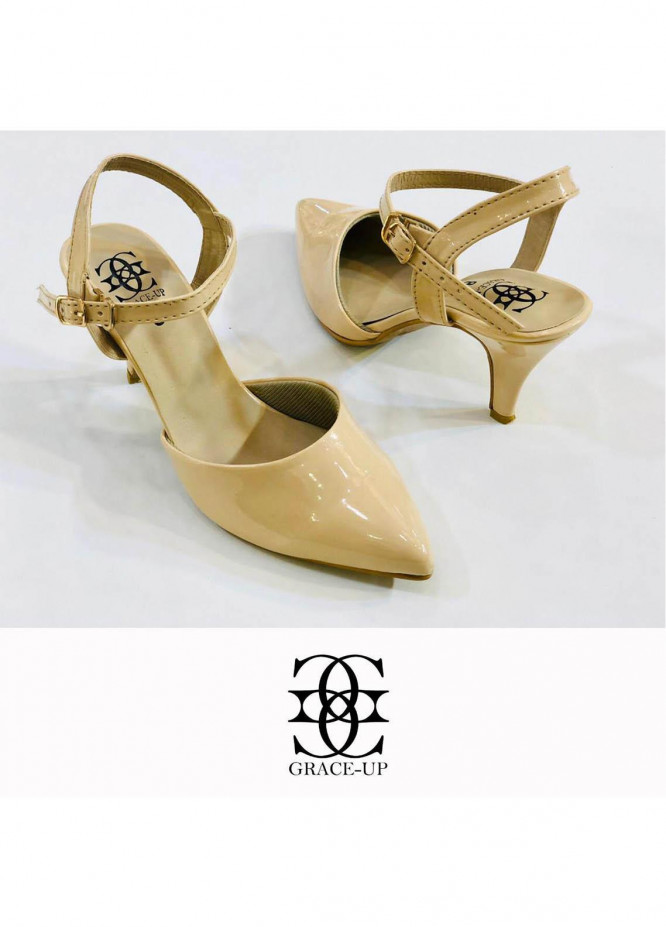 Grace Up Shoes Formal Style  Heel  0469 FAWN