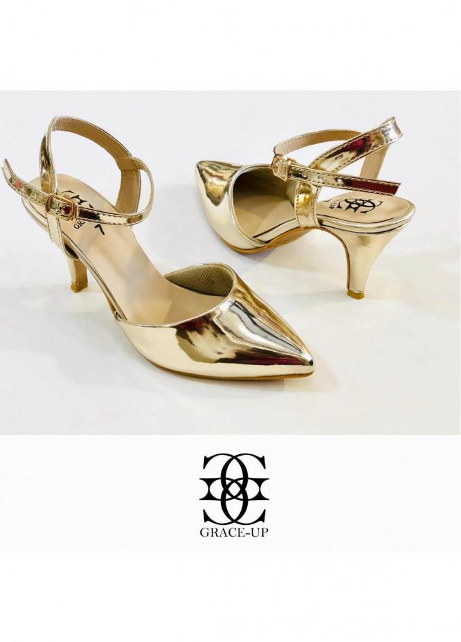 Grace Up Shoes Formal Style  Heel  0469 GOLDEN