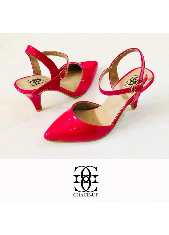 Grace Up Shoes Formal Style  Heel  0469 HOT PINK
