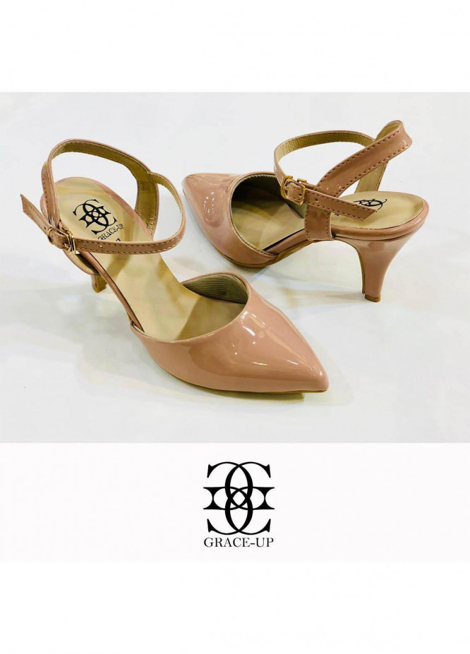 Grace Up Shoes Formal Style  Heel  0469 PINK