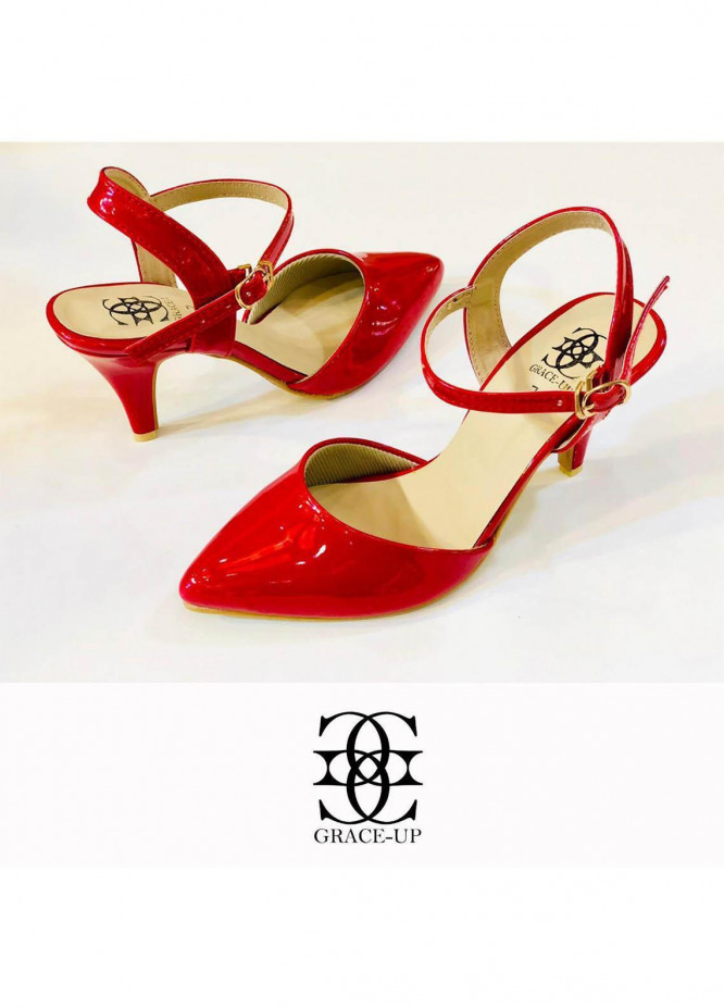 Grace Up Shoes Formal Style  Heel  0469 RED