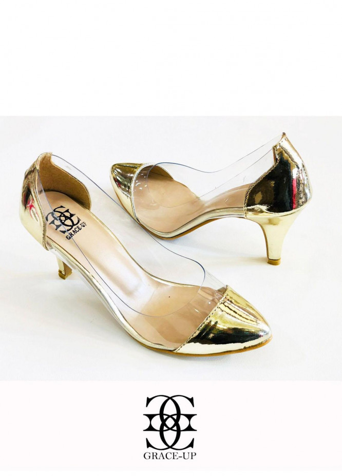 Grace Up Shoes Formal Style  Heels  O489 GOLDEN