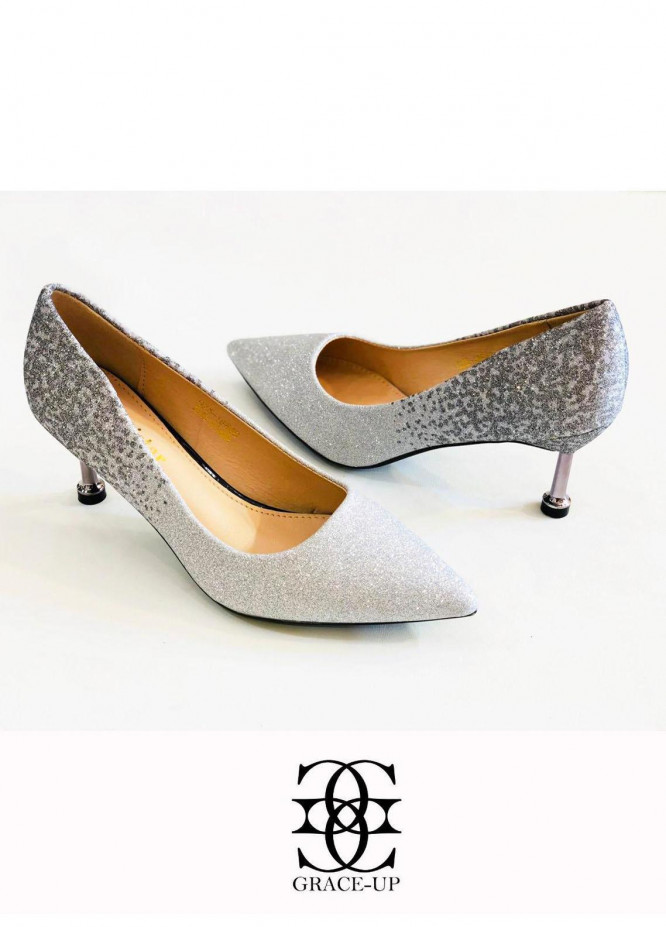 Grace Up Shoes Formal Style  Heel  0525 GRAY