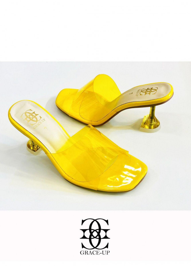 Grace Up Shoes Formal Style  Heels  839 YELLOW