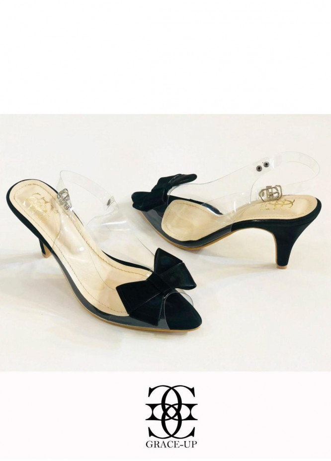 Grace Up Shoes Formal Style  Heels  480 Black