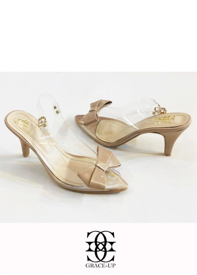 Grace Up Shoes Formal Style  Heels  480 Fawn