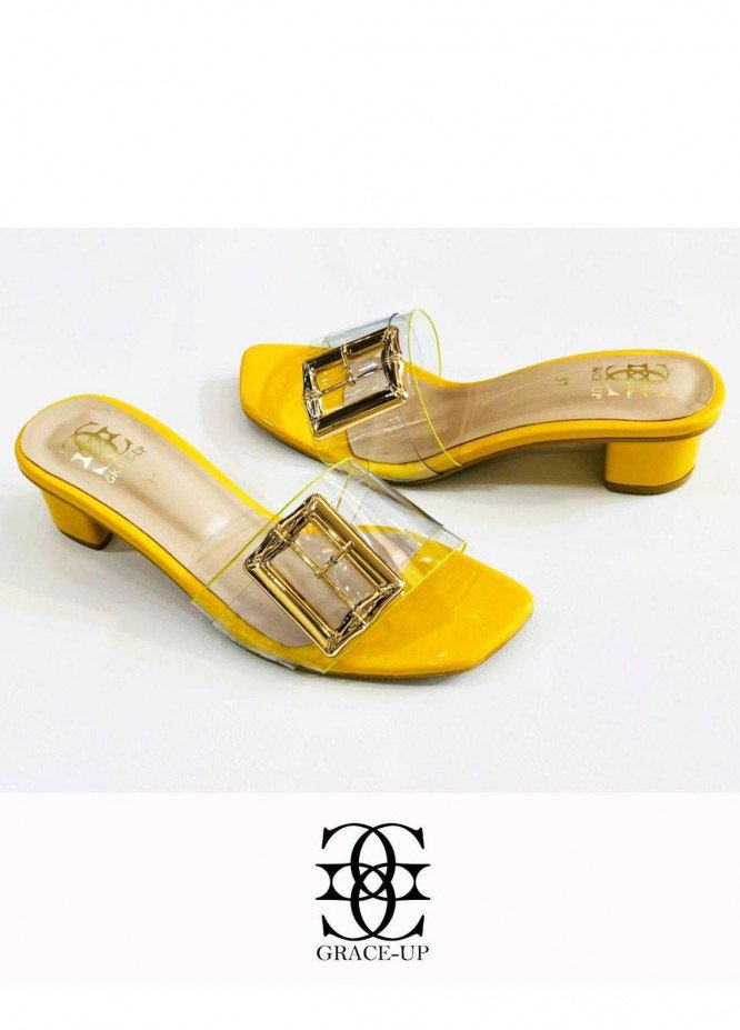 Grace Up Shoes Formal Style  Heels  825 Yellow