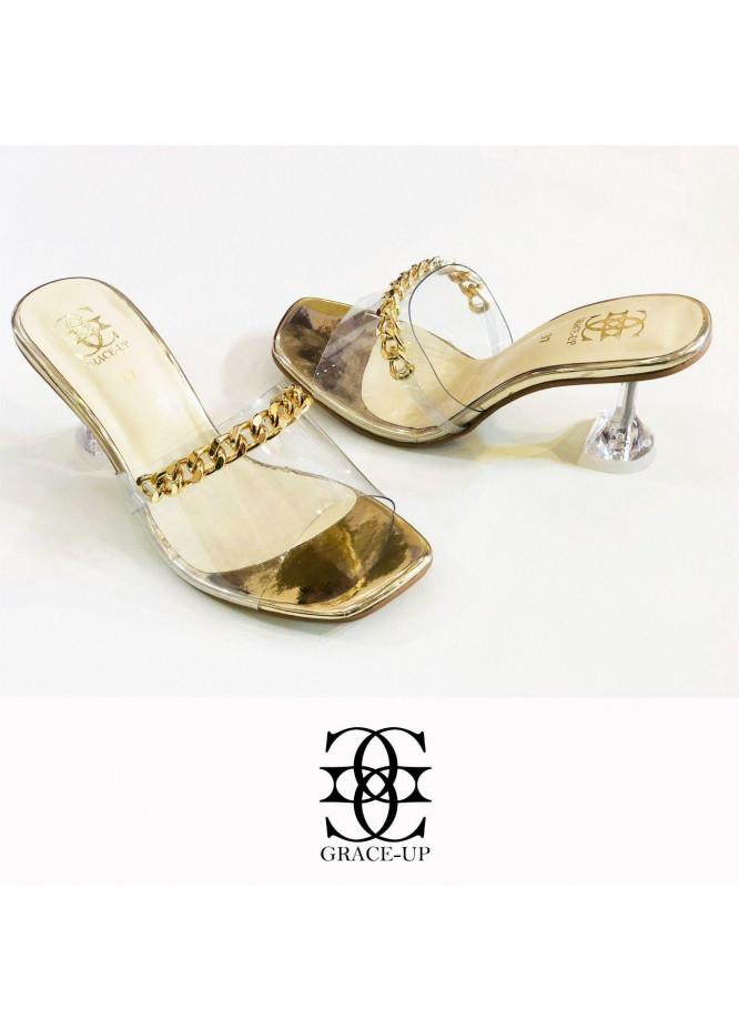 Grace Up Shoes Formal Style  Heel  846 GOLDEN