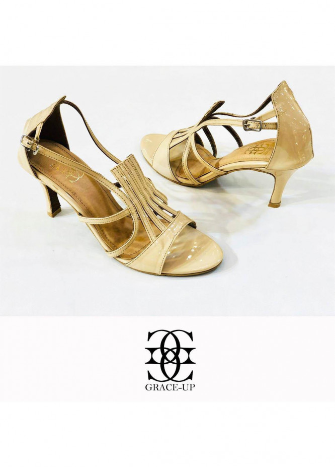 Grace Up Shoes Formal Style  Heel  980 FAWN