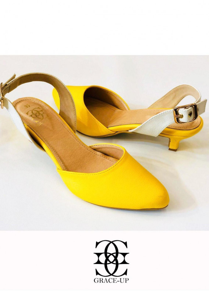 Grace Up Shoes Formal Style  Heels  461 YELLOW