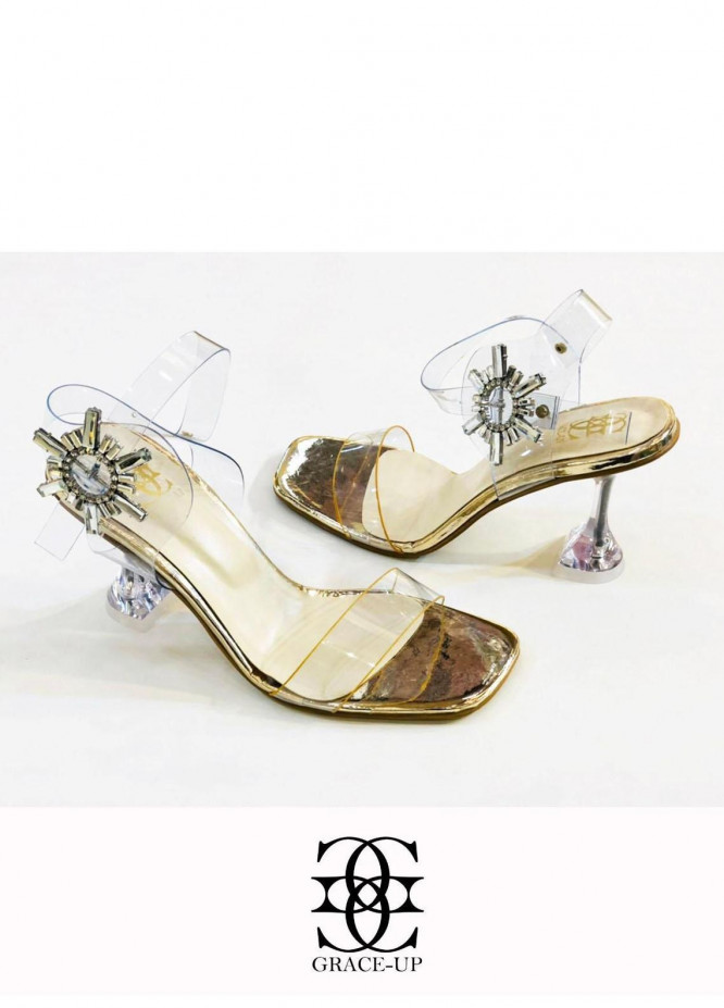 Grace Up Shoes Formal Style  Heels  981 GOLDEN