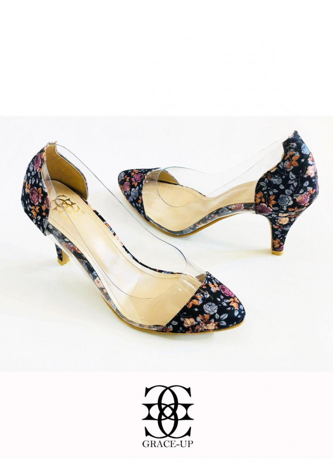 Grace Up Shoes Formal Style  Heels  O491 BLACK