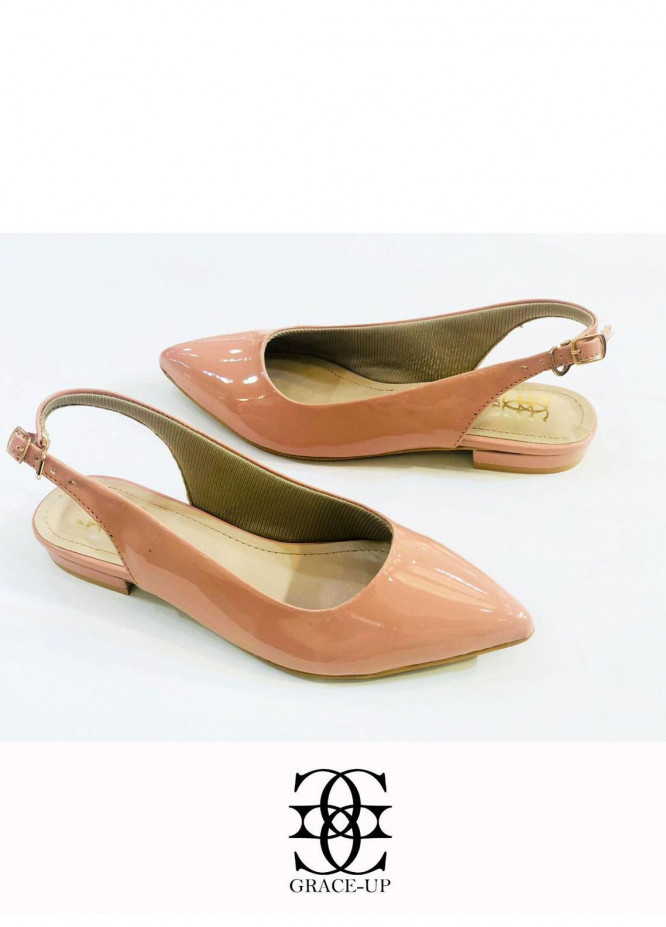 Grace Up Shoes Casual Style  Flats  O639 PINK