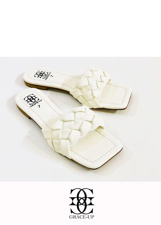 Grace Up Shoes Casual Style  Flats  O641 WHITE