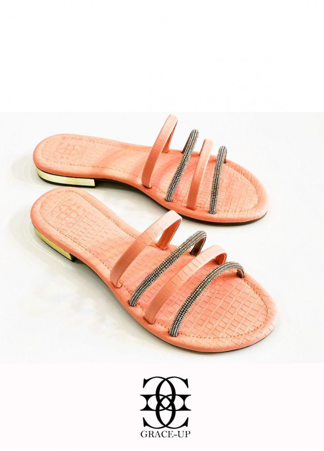 Grace Up Shoes Casual Style  Flats  O642 PINK