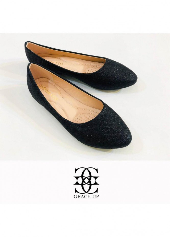 Grace Up Shoes Casual Style  Pumps  A305 BLACK